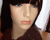 "Hand Knit Scarf-""Vampire Inspired"" , Light airy open-work design, gifts for her"