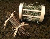 Roller Toy/Hay Feeder & Apple Twigs