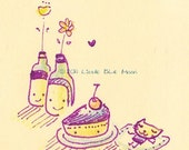 Illustrated Letter Set (cakes, fuits, cat) - Cute Little Things