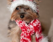 Scarf for Dog - Red and White