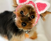 Knit Headband - Hot Pink Kitty Cat Ears for Dogs