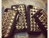 FREE US SHIPPING Silver Studded Iphone 4g 4s Cover Case