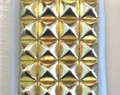 Free US Shipping WHITE with Gold pyramid Studs Iphone 4g 4s Cover Case