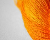 Burning orange - BFL Sock Yarn Superwash