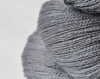 Gray which must not be named - Merino/Silk/Cashmere Fine Lace Yarn