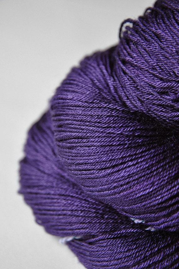 Dark iris ceased to be OOAK- Merino/Silk yarn fingering weight