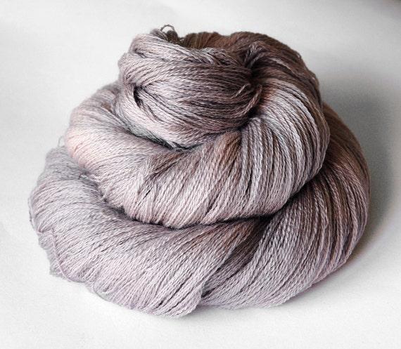 Dyeing rose - Merino/Silk/Cashmere Yarn Fine Lace weight