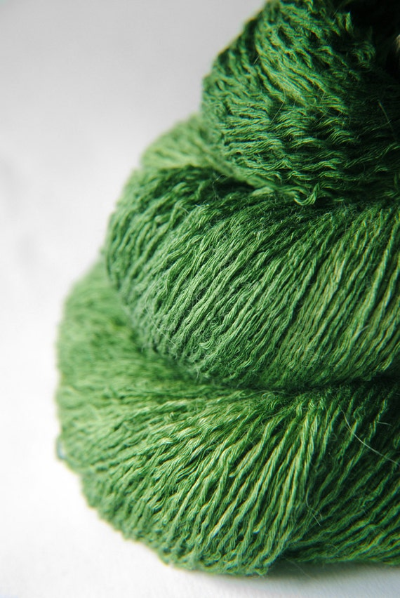 St. Patrick's day parade gone awry - Silk/BabyCamel/Merino Yarn Lace weight