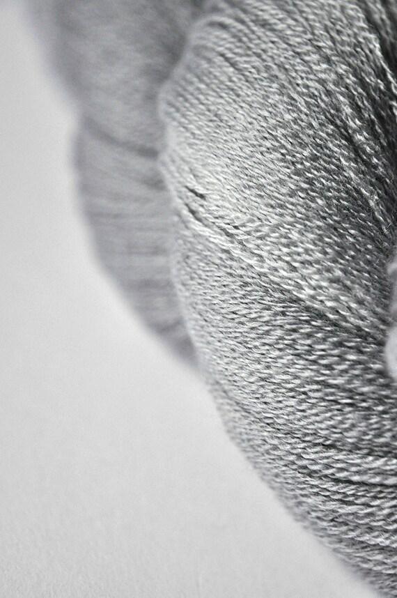 Clouds on a rainy day  - Merino/Silk/Cashmere Yarn Fine Lace weight
