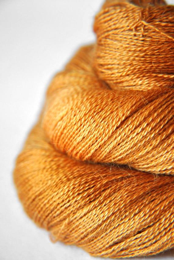 Dead leaves - Baby Alpaca / Silk yarn lace weight