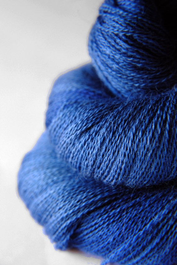 Ground sapphire - Baby Alpaca / Silk yarn lace weight