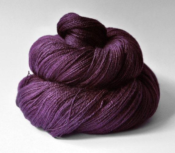 Mashed cherries - Merino/Silk/Cashmere Yarn Fine Lace weight