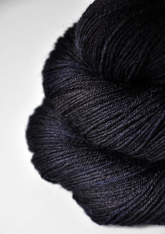 Long past midnight OOAK - BFL Sock Yarn superwash
