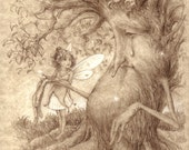 On the Mend, Old Wisebark, Happy Tree, Little Red, Magical Night, Gift of the Rose, Nibbles and A Fairy Print Set of 8