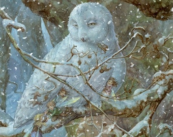 Winter Refuge 8.5x11 Signed Print with original doodle