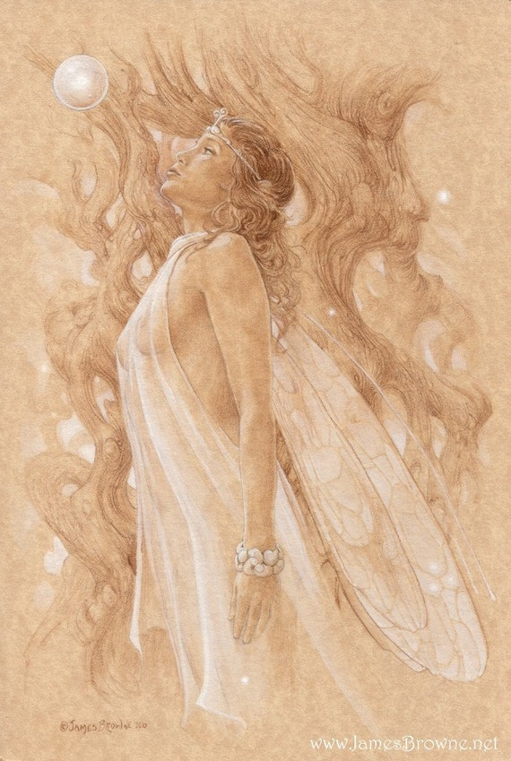 Breathe Fairy 7x10 Giclee Print Illustration