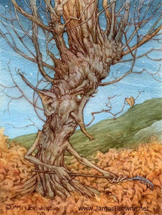 The Last Leaf Tree Ent 5x7 Print