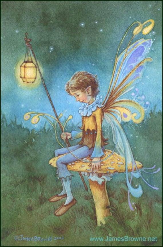 Nathaniel Mushroom Fairy 5x7  Print