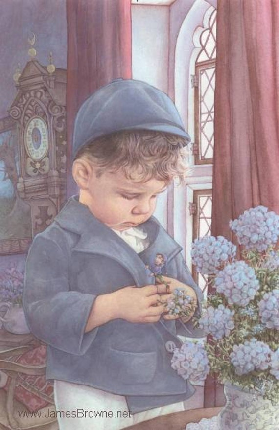 First Encounter Boy and Elf Greeting Card