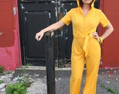 1970s Yellow Jumpsuit