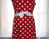 Vintage 1950s Suzy Perette Polka Dot Tunic/ Dress