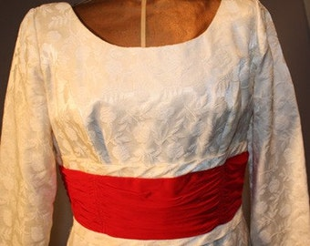 Vintage 1960s Dress with Red Sash