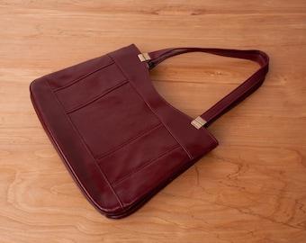 Vintage 70s Maroon Leather Purse