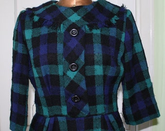 Vintage Leslie Fay Original Plaid Dress