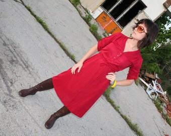 Vintage Cranberry 1970s Dress