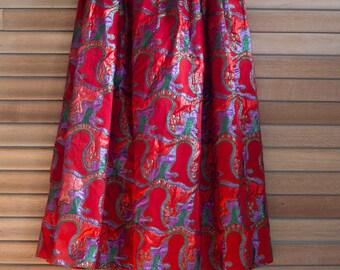 Vintage Eddie George Pleated Maxi Skirt