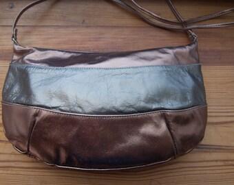 Vintage 1980s Metallic Leather Purse