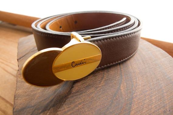 Vintage Pierre Cardin Brown Leather Belt