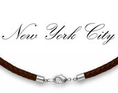 """4mm Brown Braided Bolo Leather Cord Necklace 14"""" inches - 36"""" inches Silver Plated Clasp, You choose length. LCB0400BRNA"""