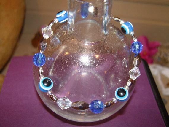 Evil Eye Protection Bracelet, Cobalt Blue