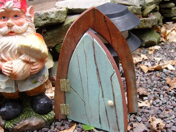 Glow-In-The-Dark Turquois Fairy Door,for your Fairies, Gnomes, Elves and other Mystical Beings