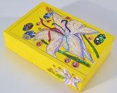 Spicy Lily, Handpainted Trinket Box, Jewelry Box, Tarot Box (small)