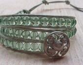 My Cariads Wrist Wrap Bracelet Mint Green