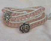 My Cariads Wrist Wrap Bracelet Pink