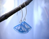 Deco Blue and White Earrings