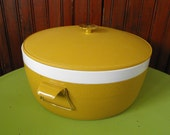 Vintage Olympian Therm O Ware Golden Harvest Isulated Covered Dish Bowl with Lid