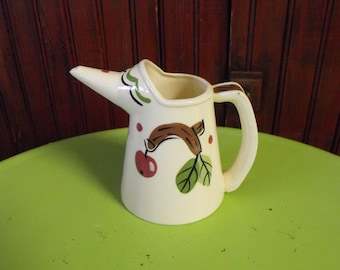 Vintage The California Cleminsons Hand Painted Cherry Tree Water Pitcher or Teapot