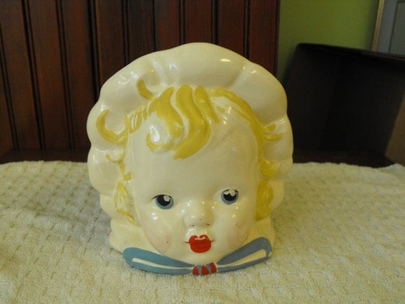 Sale Antique Hull Baby Doll Head Planter