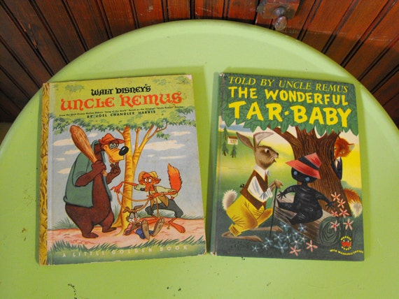 Vintage 1946 Walt Disney's Uncle Remus Little Golden Book and 1952  The Wonderful Tar Baby