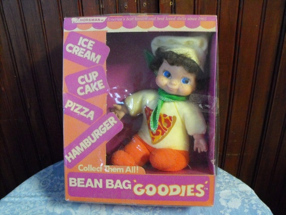 Vintage Horsman Bean Bag Goodies Pizza Doll Baby By