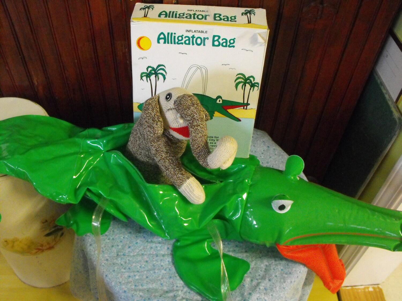 Vintage Inflatable Alligator Bag 1986 By Peacenluv72 On Etsy