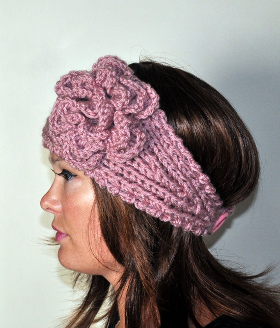 Crochet Patterns Headband Ear Warmer : Crochet headband Earwarmer Headwrap Ear warmer Crochet Knit CHOOSE ...