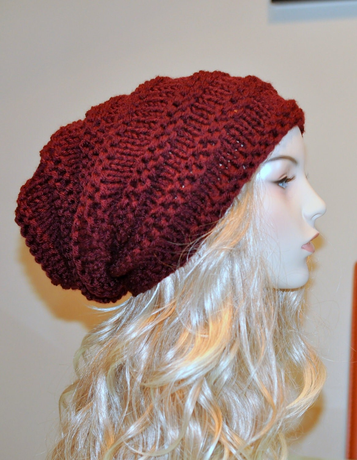 Slouchy Hat women hat Slouch Beanie Baggy Hat Knit by lucymir