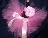 Custom Infant Tutu / First Birthday Tutu with Matching Headband and Flower Hairbow - Sizes Newborn - 24 Months