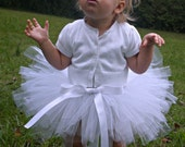 Sweet Baby Angel Tutu / Baby White Tutu / Toddler Tutu - Ready to ship in two days
