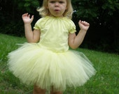 Yellow Baby Girl / Toddler Girl Birthday Tutu / Princess Tutu - Ready to ship in two days